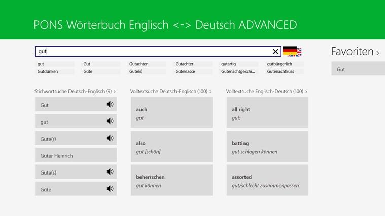 Wörterbuch Englisch <-> Deutsch ADVANCED von PONS Screenshot 2