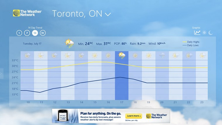 The Weather Network screen shot 2