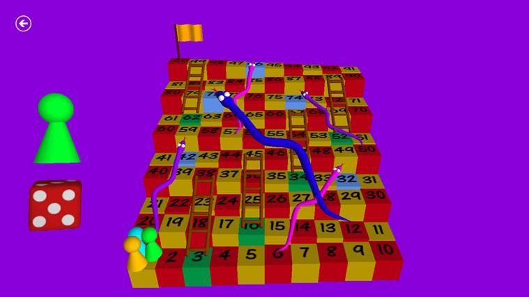 Węże i drabiny 3D zrzut ekranu 0