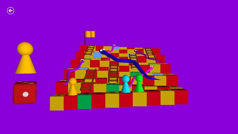 Węże i drabiny 3D zrzut ekranu 2