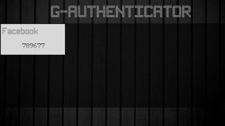 G-Authenticator screen shot 2
