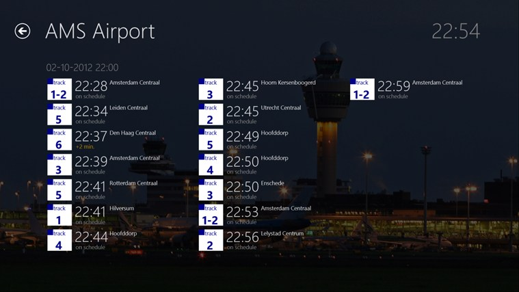 AMS Airport screen shot 4