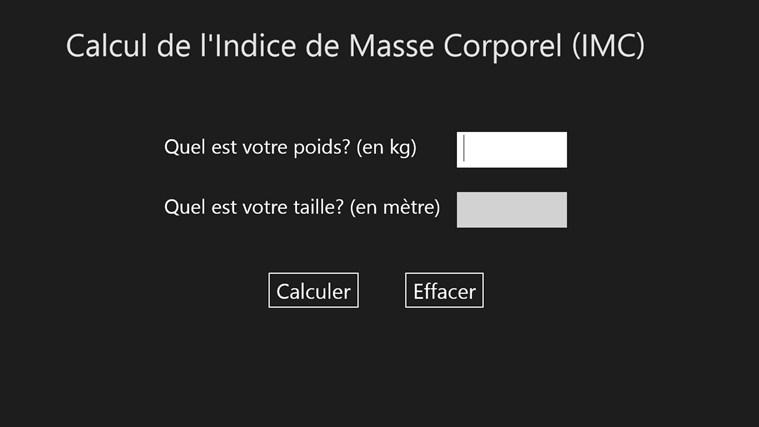 Calculer votre IMC screen shot 0