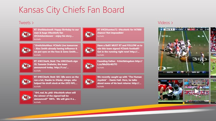 Kansas City Chiefs Fan Board screen shot 0
