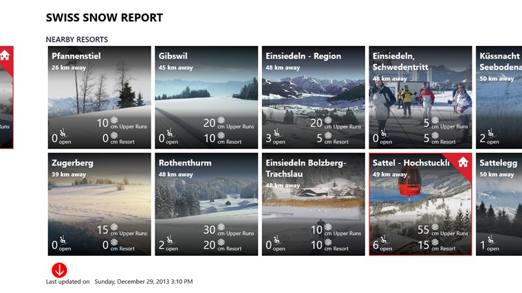 Swiss Snow Report screen shot 2