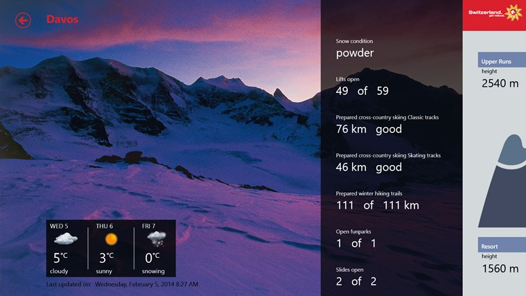 Swiss Snow Report screen shot 4