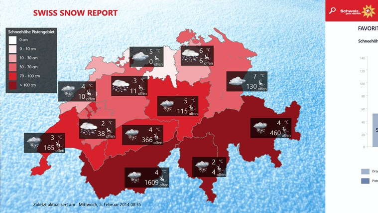 Swiss Snow Report Screenshot 0