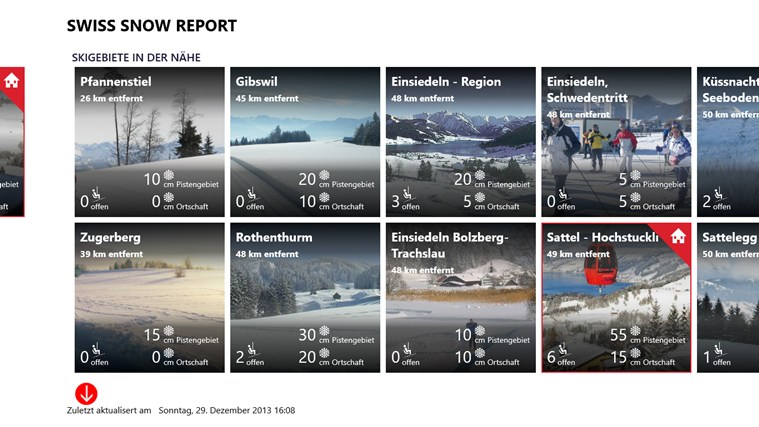 Swiss Snow Report Screenshot 2
