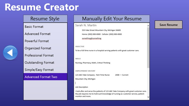 Quick Easy Resume Builder 25.04.2017