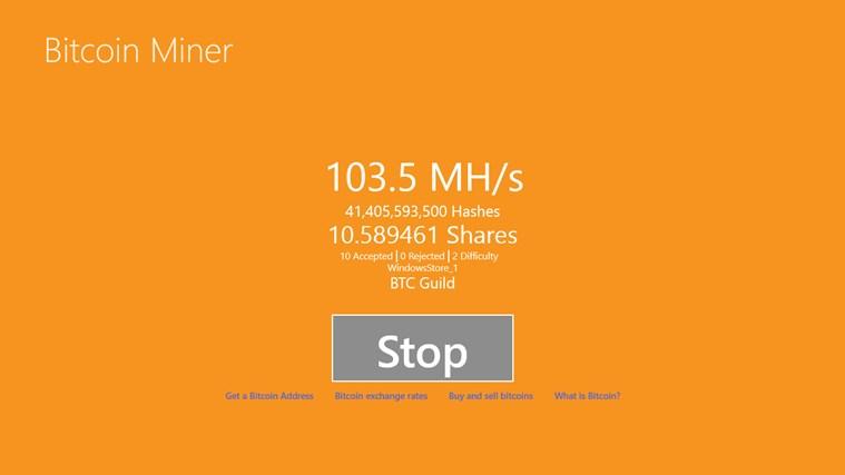 Bitcoin Miner screen shot 0