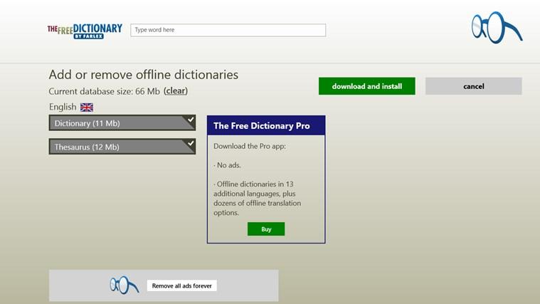 Dictionary. gabháil scáileáin 8