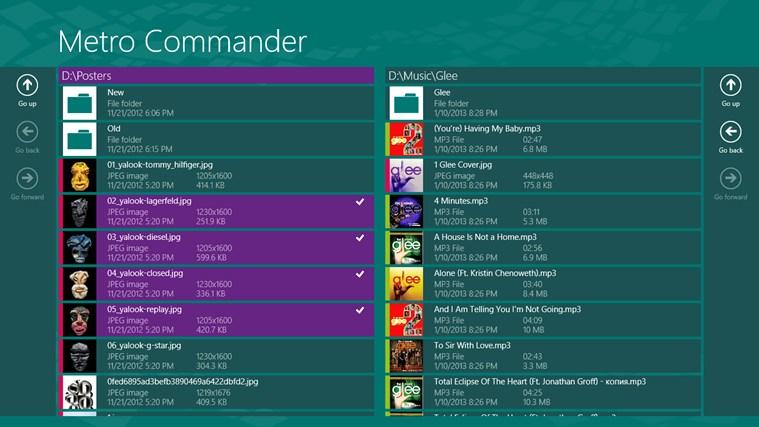 Metro Commander - 文件及文件夹管理[Windows 8]