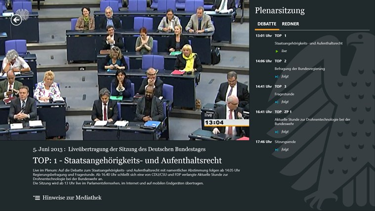 Deutscher Bundestag screen shot 2