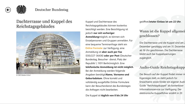 Deutscher Bundestag screen shot 8