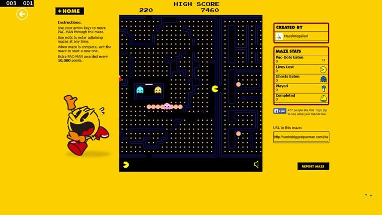 Pacman Infinity HD screen shot 2