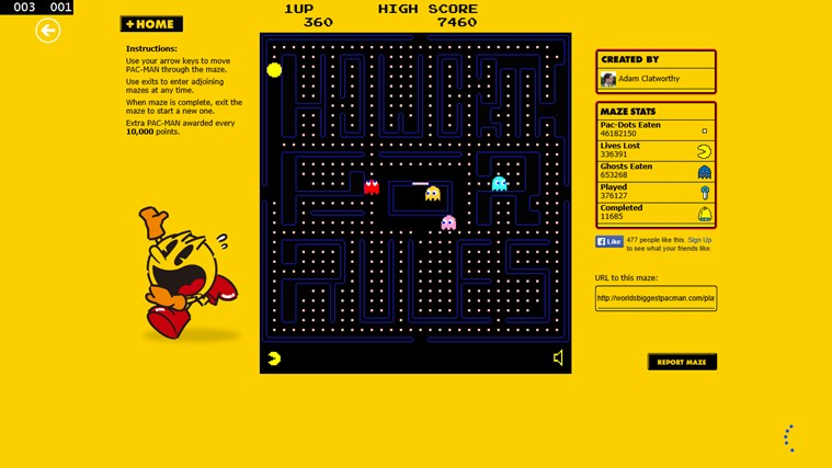 Pacman Infinity HD screen shot 8