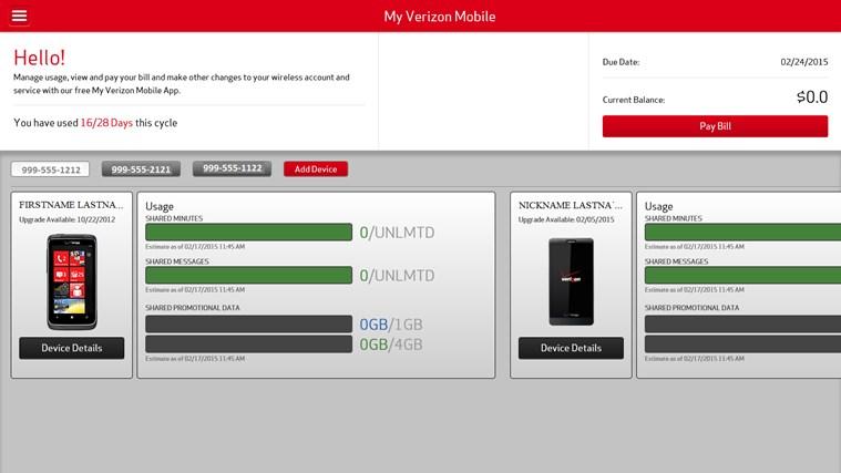 My Verizon Mobile screen shot 0