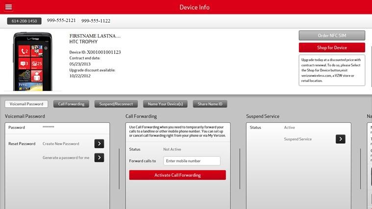 My Verizon Mobile screen shot 2