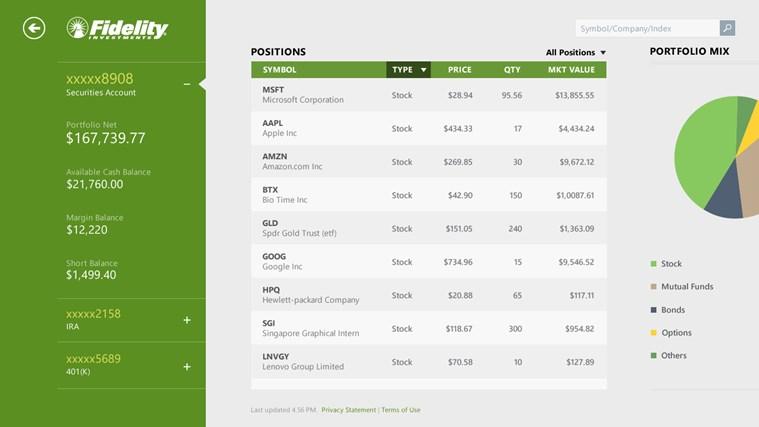 Bing Finance screen shot 4