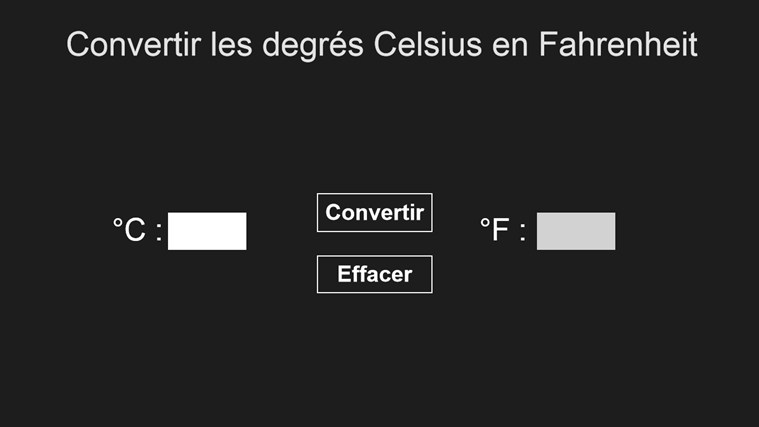 Convertisseur Celsius/Fahrenheit screen shot 0