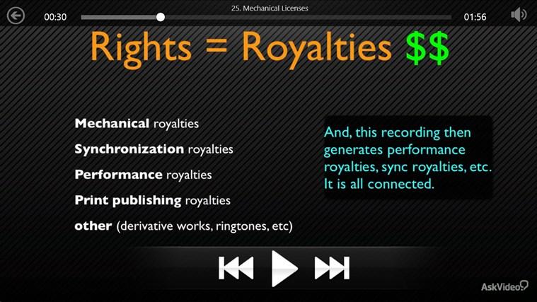 Music Business: Copyright and Royalties Screenshot 4