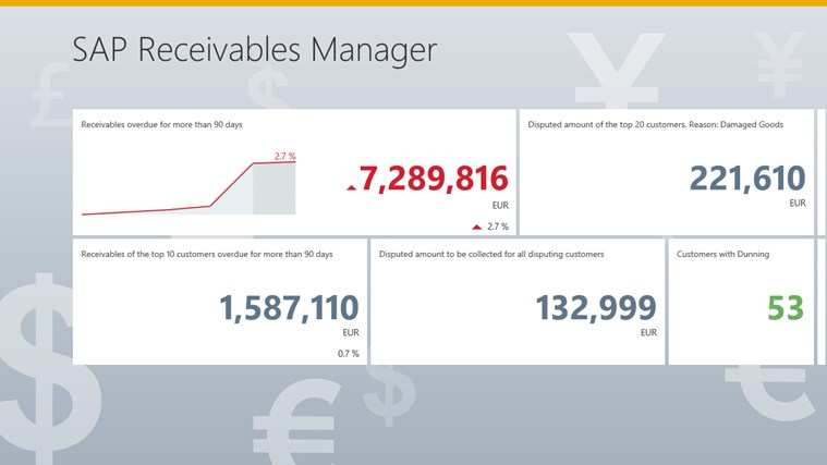SAP Receivables Manager screen shot 0