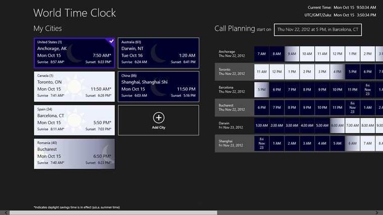 World Time Clock screen shot 0