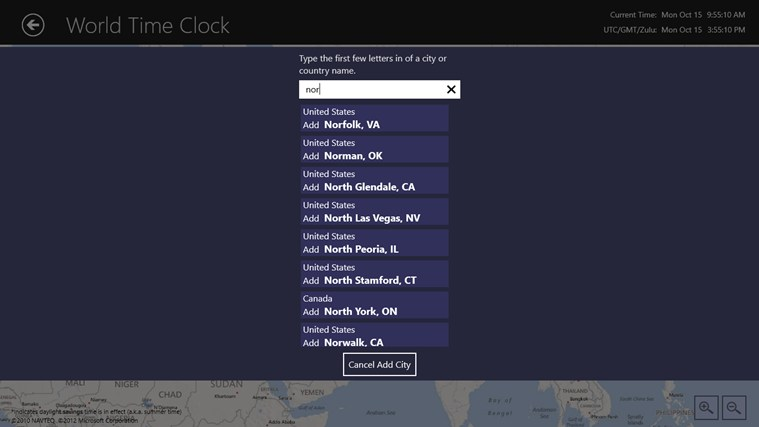 World Time Clock screen shot 6