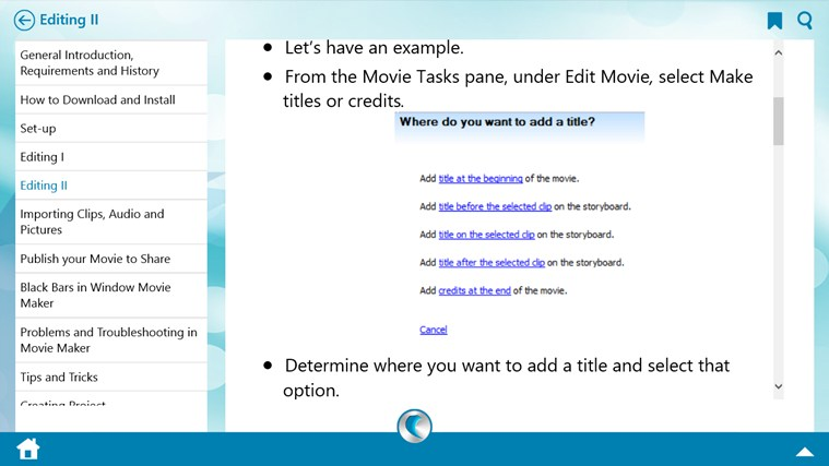Learn Windows Movie Maker by WAGmob screen shot 4