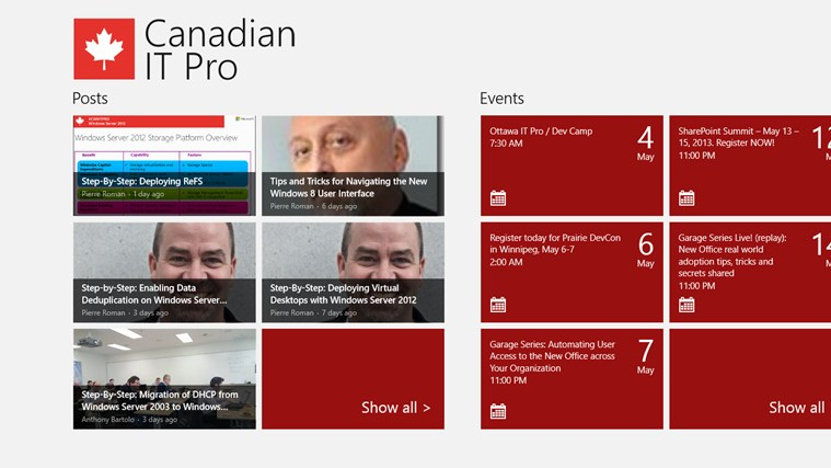 Canadian IT Pro Connection screen shot 0