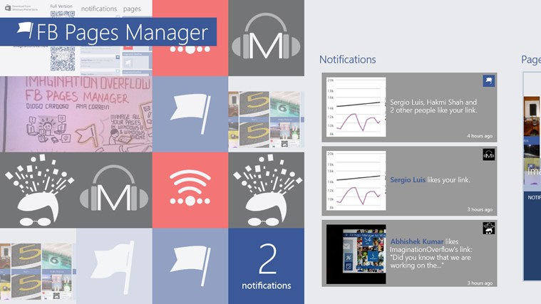 FB Pages Manager screen shot 2