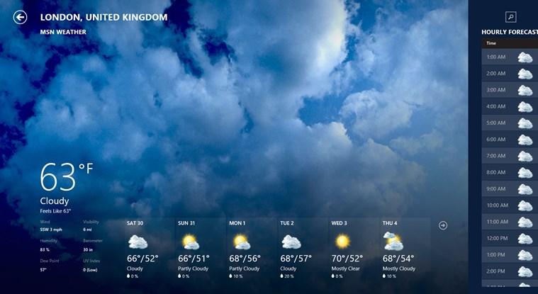 MSN Weather screen shot 0