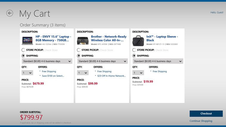 Best Buy screen shot 6