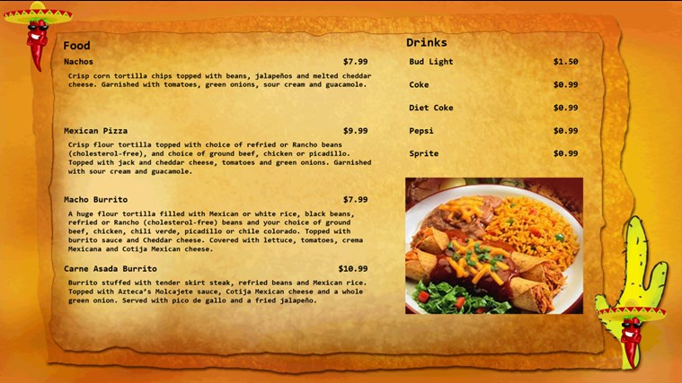My Digital Menu Boards screen shot 4
