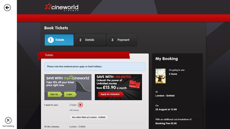Cineworld Unofficial screen shot 4