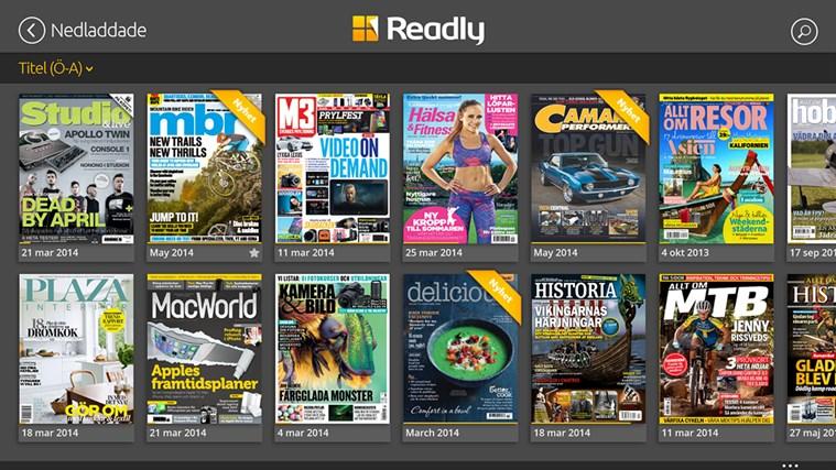 Readly-skärmbild 6