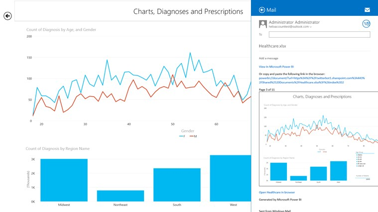 Microsoft Power BI screen shot 2