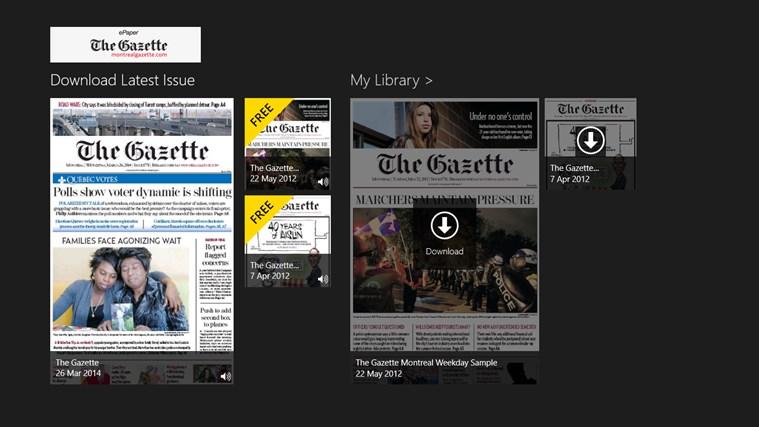 The Gazette ePaper capture d'écran 0