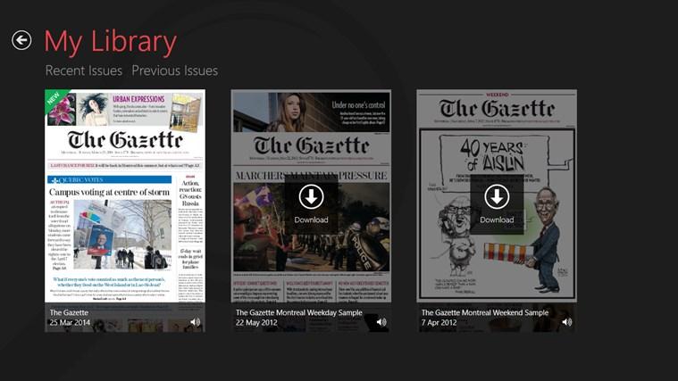 The Gazette ePaper capture d'écran 2