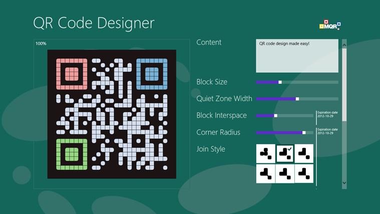 QR Code Designer screen shot 0