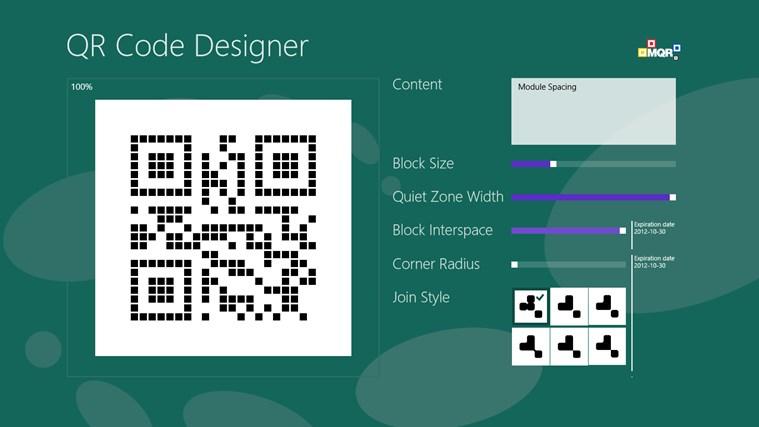 QR Code Designer screen shot 2