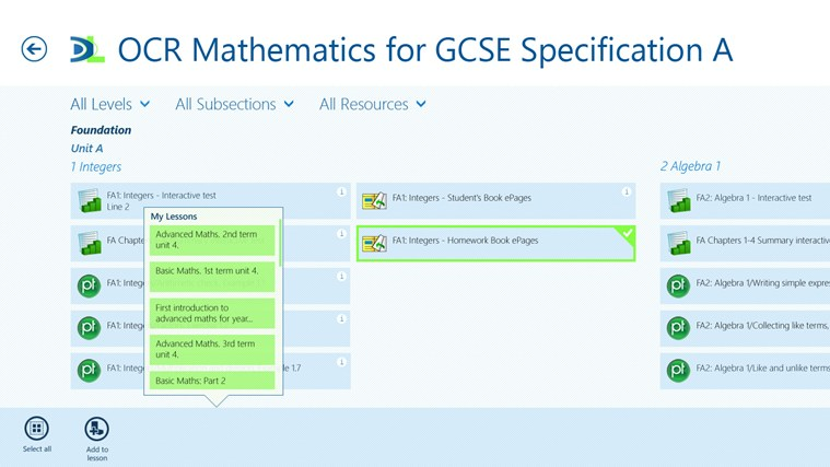 Dynamic Learning from Hodder Education screen shot 2