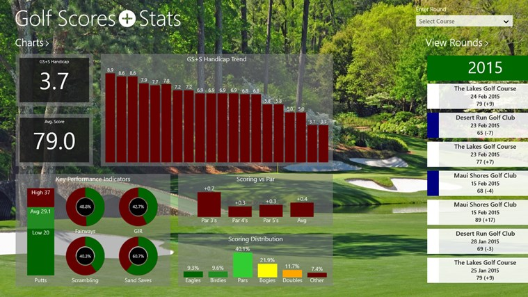 Golf Scores + Stats screen shot 0