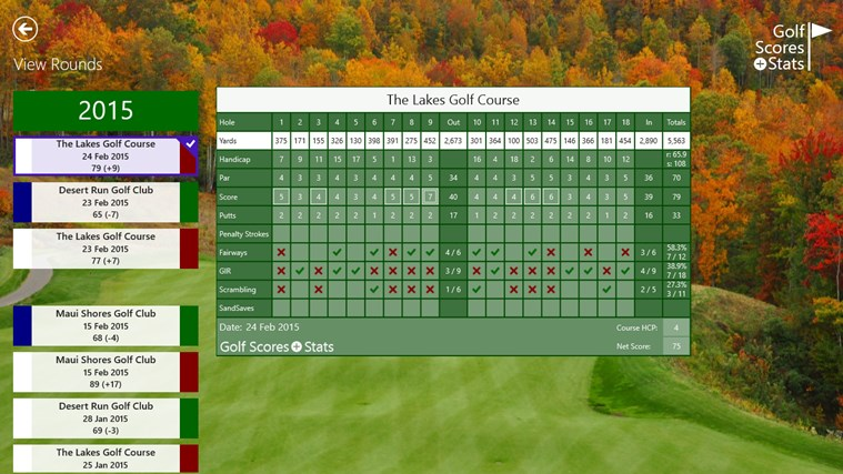 Golf Scores + Stats screen shot 4