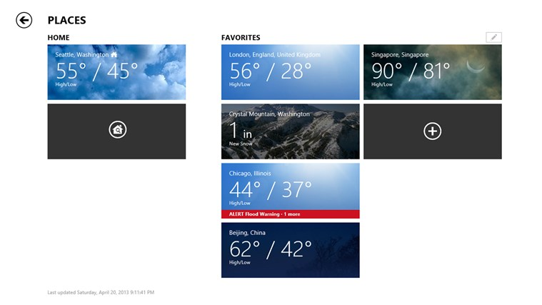 Bing Weather screen shot 6