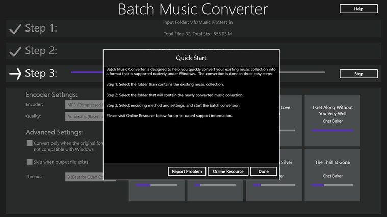 Batch Music Converter screen shot 0