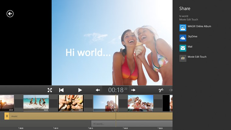 Movie Edit Touch (for Movie Edit Pro Customers) screen shot 2