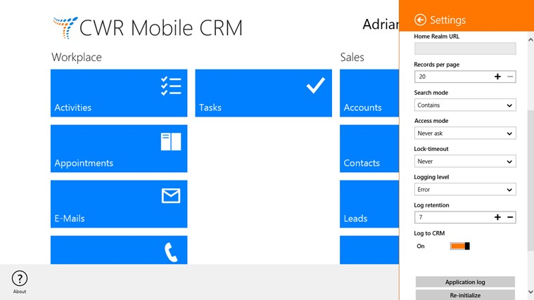 CWR Mobile CRM screen shot 8
