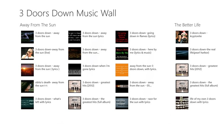 3 Doors down - Music Wall screen shot 0