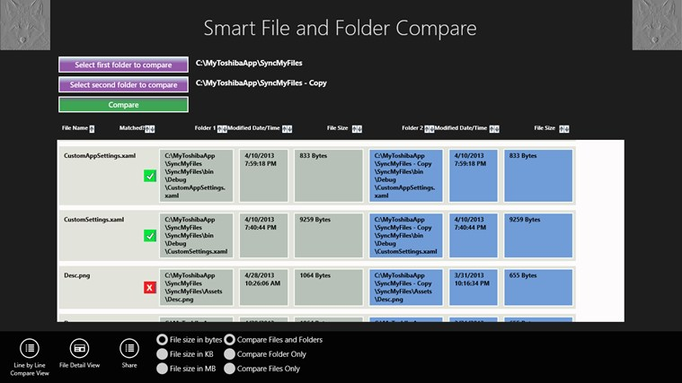 Smart File and Folder Compare screen shot 0